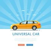 Yellow universal citycar Royalty Free Stock Photography