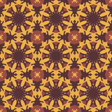 Yellow universal vector seamless patterns, tiling. Geometric ornaments. Stock Photo