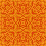 Yellow universal vector seamless patterns, tiling. Geometric ornaments. Stock Image