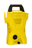 Yellow vacuum cleaner  on white background Royalty Free Stock Images