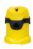 Yellow vacuum cleaner  on white background Royalty Free Stock Photography