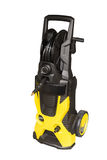 Yellow vacuum cleaner  on white background Stock Image