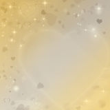 Yellow valentines card Royalty Free Stock Image