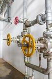 Yellow valve Stock Photo