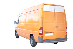 Yellow van Stock Photo