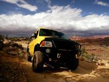 Yellow Van. Yellow 4x4 van off-roading in Utah, USA Royalty Free Stock Image