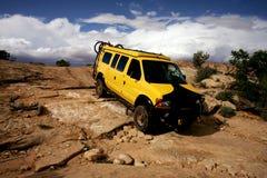 Yellow Van. Yellow 4x4 van in Needle National Park, Utah Stock Image