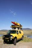 Yellow Van stock photos