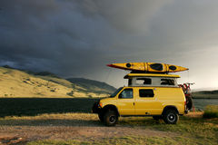 Yellow Van Stock Photography