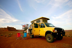 Yellow van Stock Images