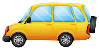 A yellow van Royalty Free Stock Image