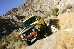 Yellow van Stock Photography
