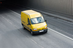 Yellow van Royalty Free Stock Images