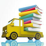 Yellow van and books Stock Photos