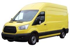Yellow van. Stock Images