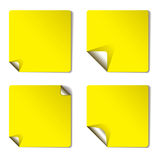 Yellow variation page curl Royalty Free Stock Photo