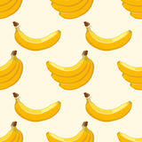 Yellow vector banana seamless background Royalty Free Stock Photo