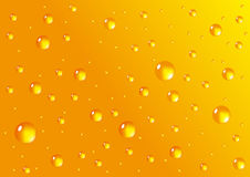 Yellow vector drops Royalty Free Stock Photos