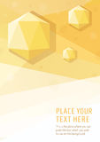 Yellow vector geometric graphic style background with hexagon diamonds Royalty Free Stock Photography