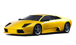 Yellow vector lamborghini. Vector of the yellow lamborghini Stock Image