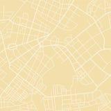 Yellow vector map royalty free illustration