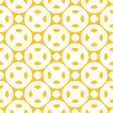 Yellow vector seamless pattern. Summer style decorative design, repeat tiles. Yellow vector seamless pattern. Bright colorful background with simple geometric Royalty Free Stock Photo