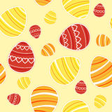 Yellow Easter seamless pattern Royalty Free Stock Photos