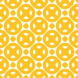 Bright positive colorful background with simple geometric shapes, circles, dots. Yellow vector seamless pattern. Bright positive colorful background with simple royalty free illustration