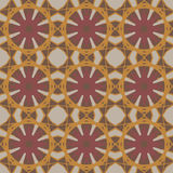 Yellow vector seamless patterns, tiling. Geometric ornaments. Royalty Free Stock Image