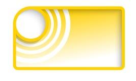 Yellow vector text box Stock Image