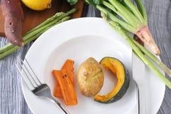 Yellow Vegetable on Dish Royalty Free Stock Photos
