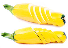 Yellow vegetable marrow Royalty Free Stock Images