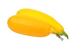Yellow vegetable marrow (zucchini). Isolated on white background Stock Images
