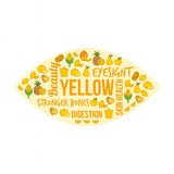 Yellow vegetables and fruits Stock Photo