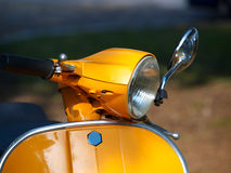 Yellow vespa Royalty Free Stock Photo