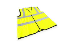Yellow vest isolated on the white Stock Photos