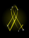 Yellow veteran's ribbon Royalty Free Stock Image