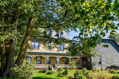 Yellow Victorian in Canada. Royalty Free Stock Image