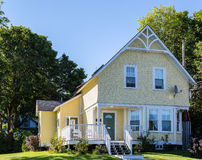 Yellow Victorian Cottage. A Yellow Victorian Cottage in Bar Harbor Royalty Free Stock Photos
