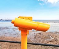 Shot of viewfinder at Scarborough beach South bay stock photos