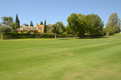 Yellow villa in golf course Stock Images