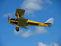 Yellow Vintage Aircraft stock photography