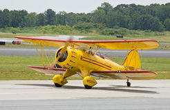 Yellow vintage airplane Royalty Free Stock Photography
