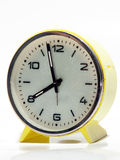 Yellow Vintage Clock Stock Photo