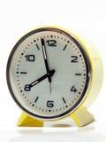 Yellow Vintage Clock Stock Photo