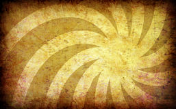 Yellow vintage grunge background with sun rays Stock Image