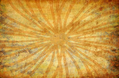 Yellow vintage grunge background with sun rays Royalty Free Stock Image
