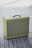 Yellow vintage guitar aplifier Stock Photos