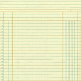 Yellow vintage ledger or graph paper numbers. Yellow vintage ledger or graph paper book keeping page numbers Stock Photography