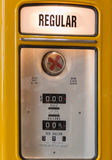 Yellow Vintage Petrol Station, Gas Station Royalty Free Stock Image